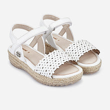 Load image into Gallery viewer, Perforated White Sandals