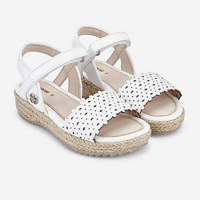 Perforated White Sandals