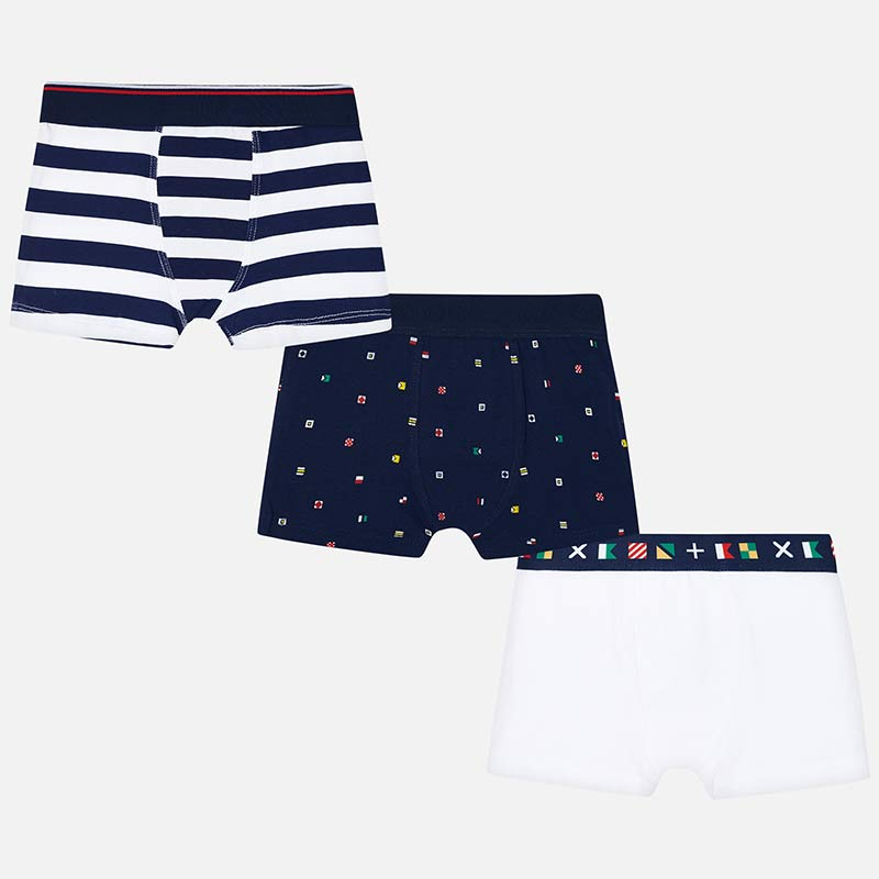 Navy and Flags Boxers - 3 Pair