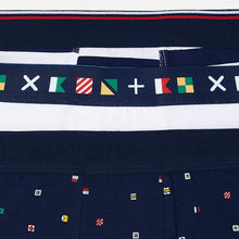 Load image into Gallery viewer, Navy and Flags Boxers - 3 Pair
