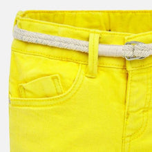 Load image into Gallery viewer, Yellow Twill Shorts with Belt