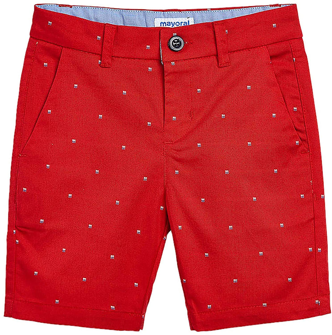 Red Hibiscus Shorts