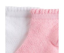 Load image into Gallery viewer, Pink And White Socks - 2 pairs