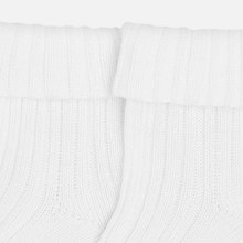 Load image into Gallery viewer, White Ribbed Socks