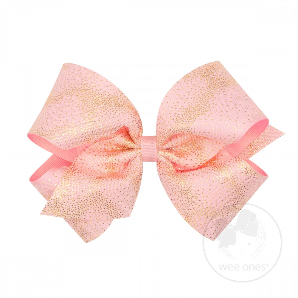 King Glitter Dust Overlay Hair Bow