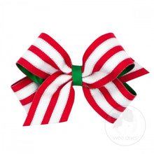 Load image into Gallery viewer, Medium Patterned Holiday Hair Bow