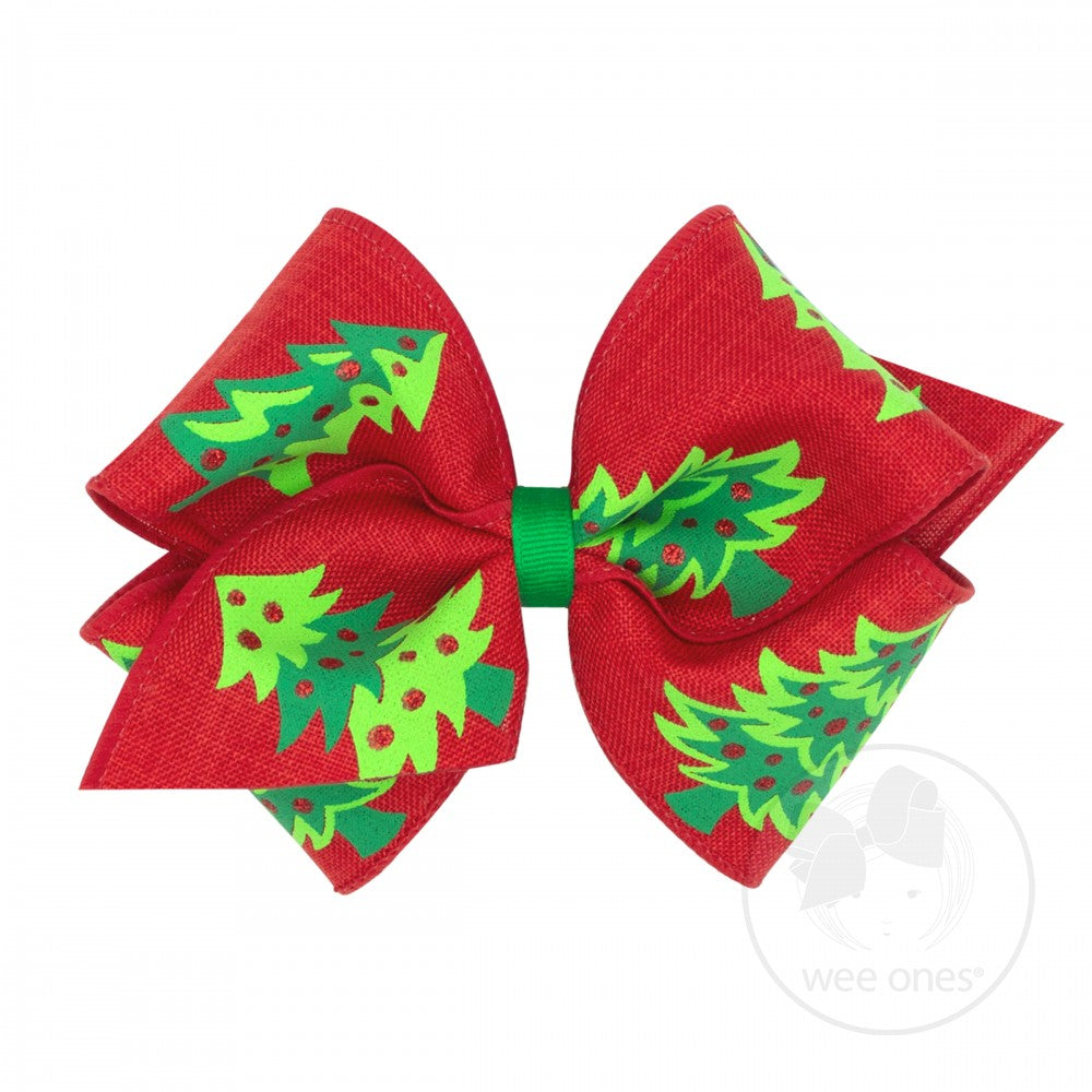 Mini King Christmas Novelty Hair Bow