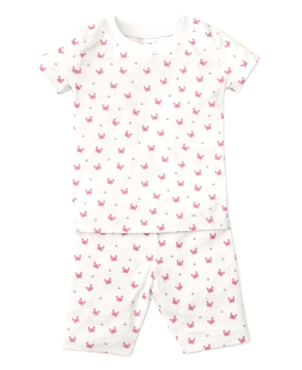 Crab Craze Pink Short Set Pajama Snug