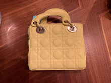 Load image into Gallery viewer, Yellow Top Handle Quilted Gold Chain Purse