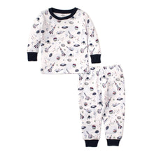 Load image into Gallery viewer, Outer Space Blue Short Set Pajama Snug
