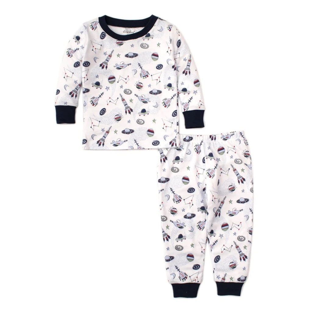 Outer Space Blue Short Set Pajama Snug