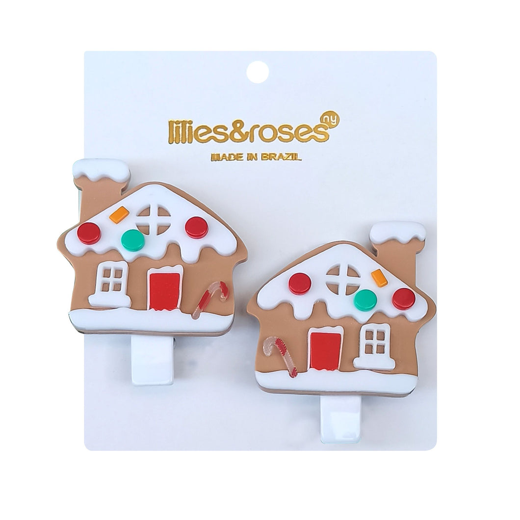 Gingerbread House Alligator Clips