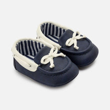 Load image into Gallery viewer, Nautical Baby Moccasins