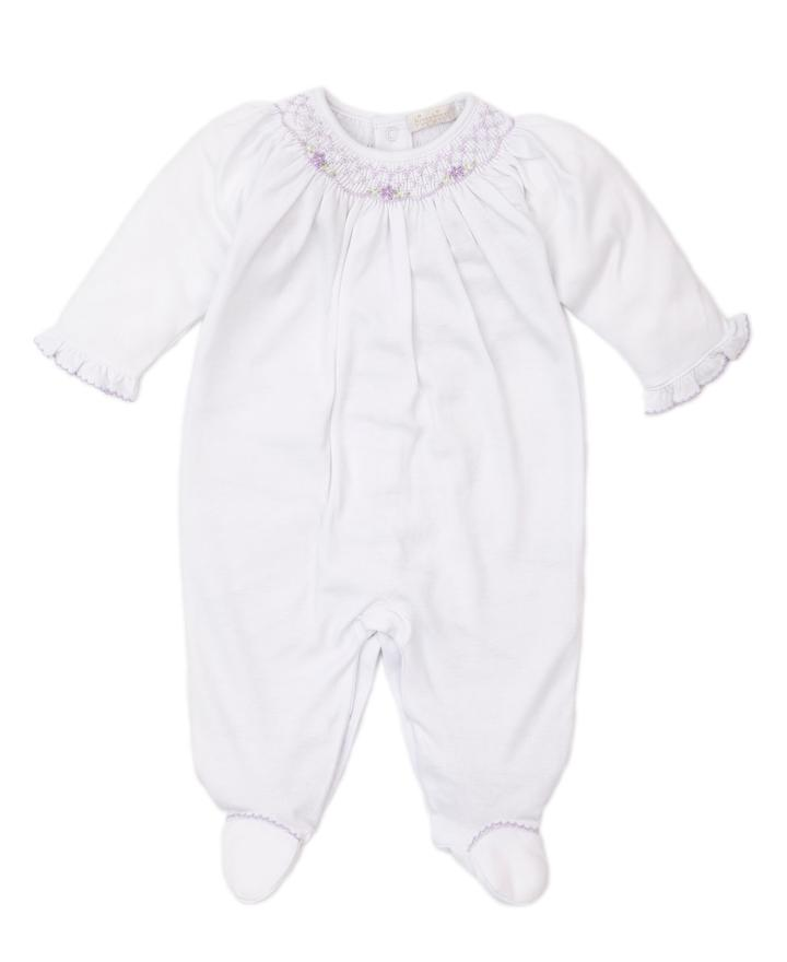 Lilac Hand Smocked Footie