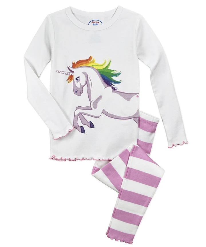Unicorn Long John Pajamas