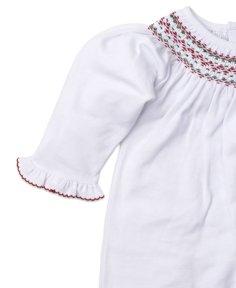 Hand Smocked Holiday Footie