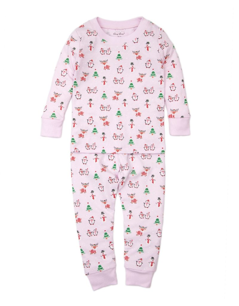 Pink Holiday Fun Pima Cotton Toddler Pajamas