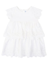 Load image into Gallery viewer, Natural White Embroidered Dress - Size 3T