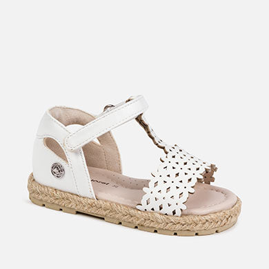 Perforated White Sandal