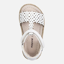 Load image into Gallery viewer, Perforated White Sandal
