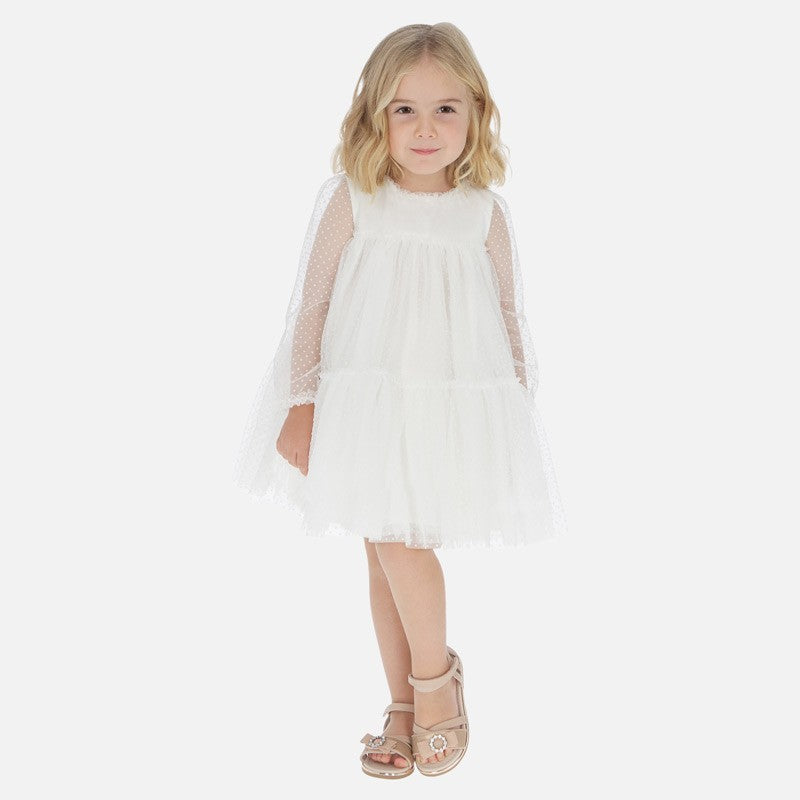 Tulle Plumeti Dress - Size 3T