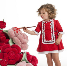 Load image into Gallery viewer, Baby Red Ruffle Dress - Size 3T