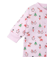 Load image into Gallery viewer, Pink Holiday Fun Pima Cotton Footie