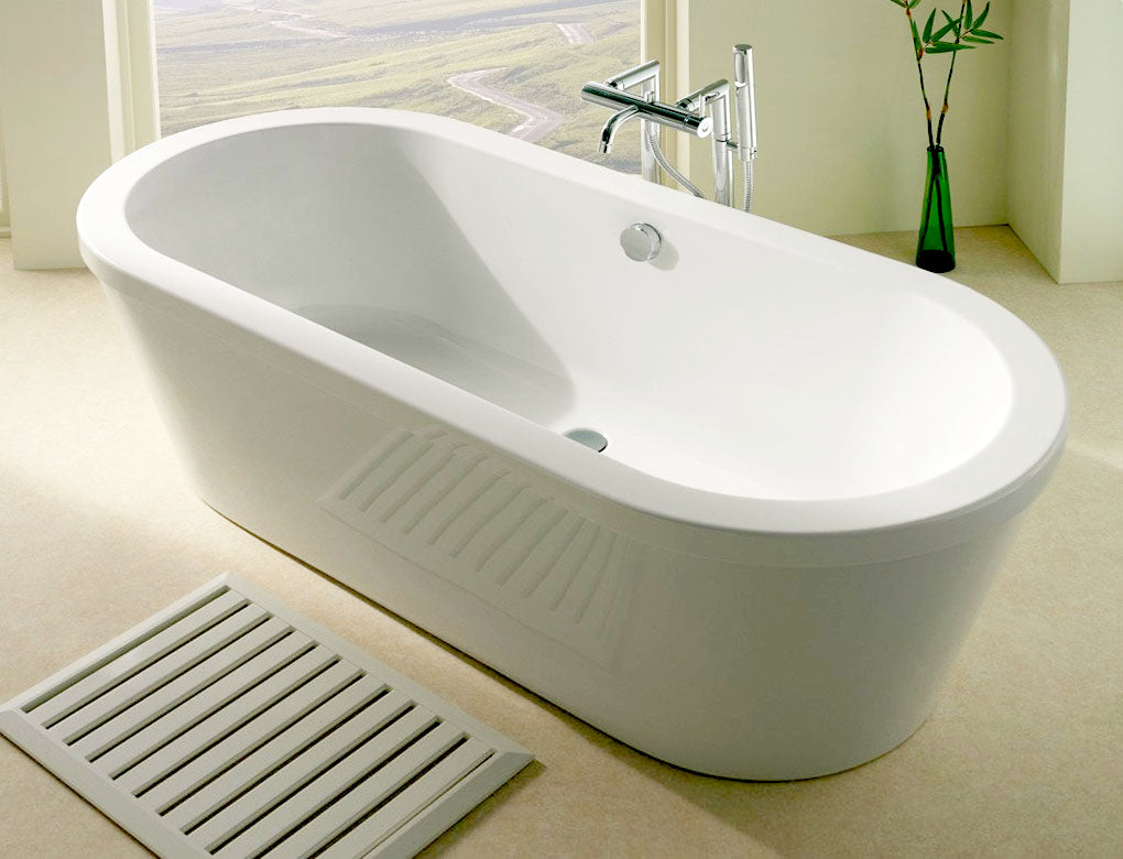 Carronite Halcyon Round (Oval) Freestanding Bath 1750 x 800 (White, Red or Black)