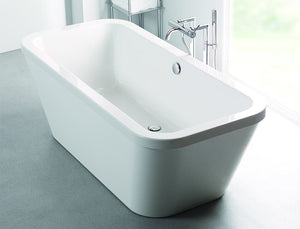 Carronite Halcyon Square Freestanding Bath 1750 x 800 (White, Red or Black)