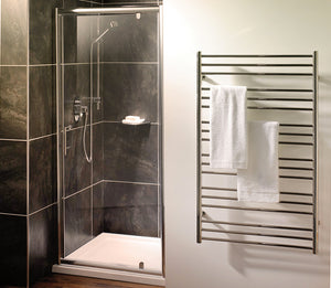 Orca Pivot Shower Doors with Optional Side Panel