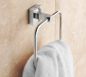 Square Towel Ring in Chrome