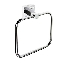 Load image into Gallery viewer, Square Towel Ring in Chrome