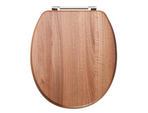 Soft Close Light Walnut Toilet Seat