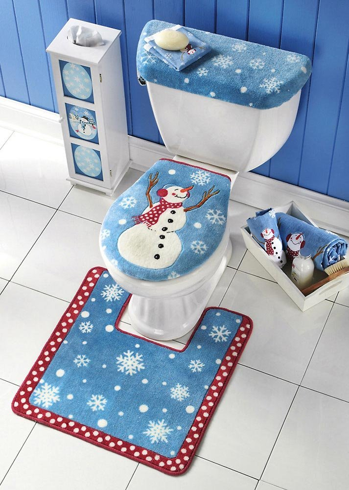 3 - Christmas Toilet Covers