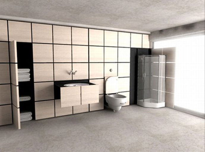 Hidden Bathroom Design