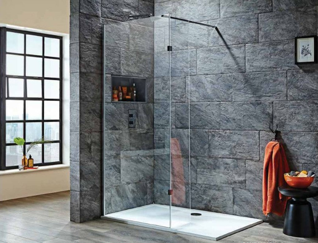 Orca Walk-In Shower With Flipper Panel