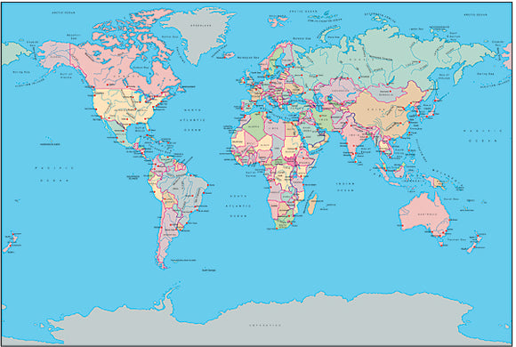 Illustrator World Maps