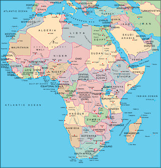 Illustrator EPS map of Africa continent