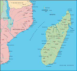 Illustrator EPS map of Madagascar