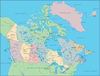 Illustrator EPS map of Canada