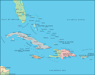 Illustrator EPS map of West Indies, Greater Antilles