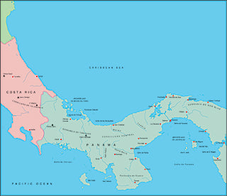 Illustrator EPS map of Panama
