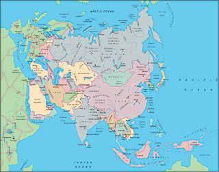 Illustrator EPS collection Asia continent maps