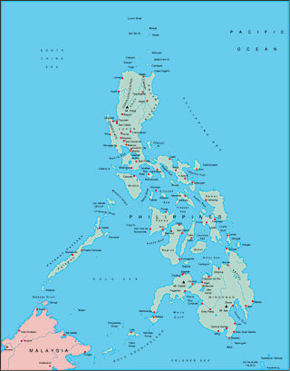 Illustrator EPS map of Philippines
