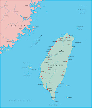 Illustrator EPS map of Taiwan