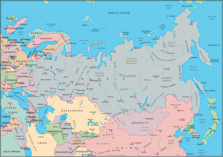 Illustrator EPS map of Russia