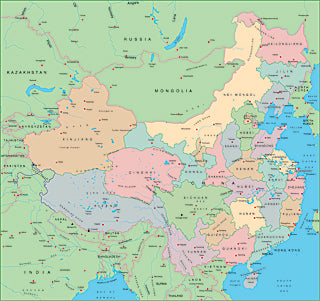 Illustrator EPS map of China