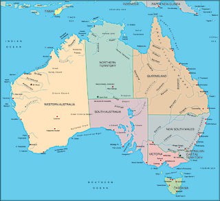 Illustrator EPS map of Australia