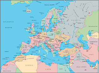 Illustrator EPS collection Europe continent maps