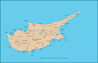 Illustrator EPS map of Cyprus